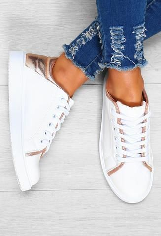 Cool Vibes Rose Gold Detail White