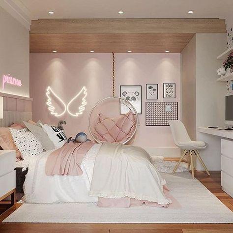 Cute Bedroom Decor, Room Design Bedroom, Bedroom Decor For Teen Girls, Girl Bedroom Designs, Stylish Bedroom, Room Ideas Bedroom, Small Room Bedroom, Rich Girl Bedroom, Cool Girl Rooms