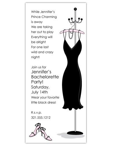 15 best Bachelorette Party Invitations images – Little Black Dress Bachelorette Party Invitations