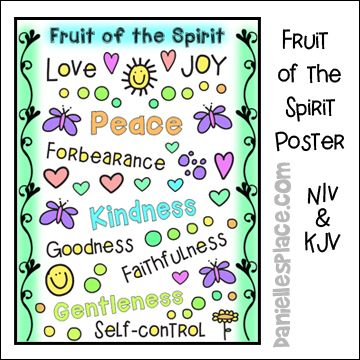 Fruit Of The Spirit Printable Poster In Both Kjv And Niv Fruit Of The Spirit Bible Crafts Bible Crafts For Kids