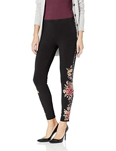 JWLA By Johnny Was Womens Embroidered Legging