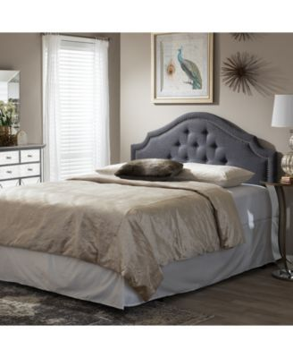 Cora Upholstered Full Size Headboard, Quick Ship   Gray   Full Size  Headboard, Ships And Products
