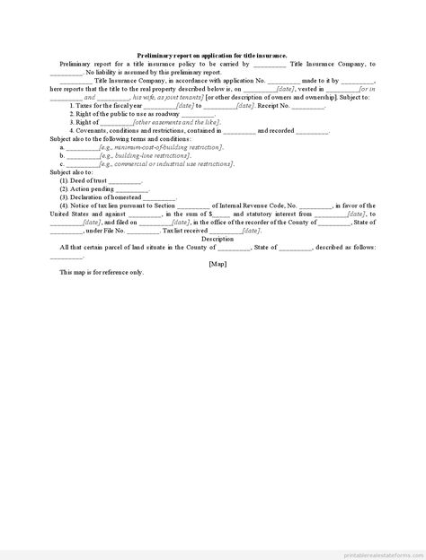 Free Preliminary Title Report Save Edit And Print Title
