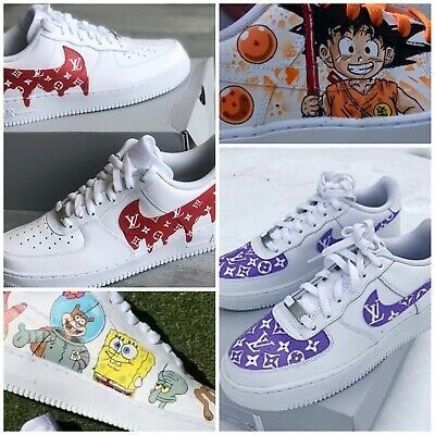 Custom Nike Airforce 1 All Sizes 100 Authentic Cartoon Characters