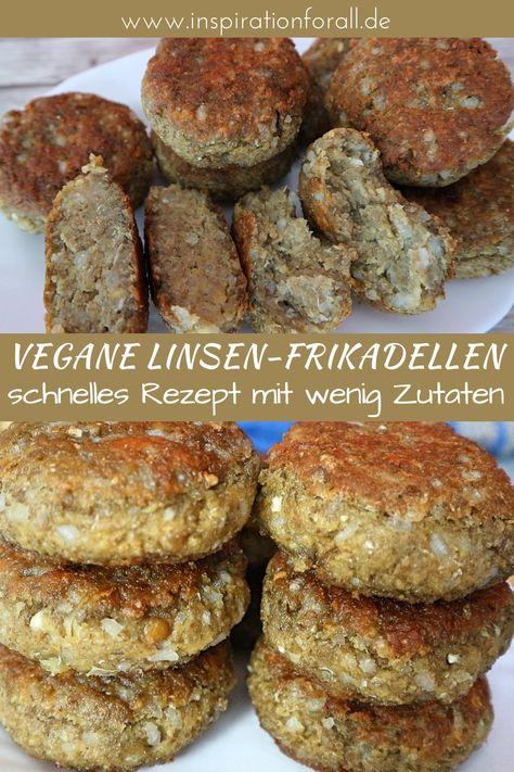 Vegane Linsen Frikadellen mit Reis   einfaches und schnelles Rezept für Linsenfrikadellen #LinsenFrikadellen #LinsenFrikadellenVegan #LinsenFrikadellenRezept