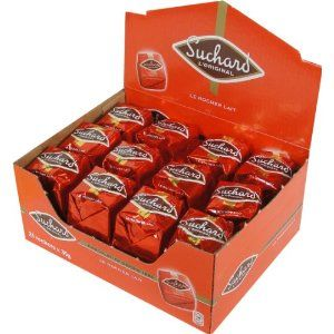 Suchard Milk Chocolate Rochers Box - lbs - 24 Pieces This delicious rock shaped candy, Le Rocher Lait from Suchard is made of milk chocolate A core