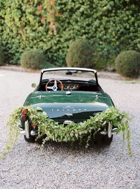 i love this idea! the right way to travel if you plan to elope in italy / italian elopement and a vintage getaway car by nastia vesna / wedding sparrow / Wedding Getaway Car, Destination Wedding, Wedding Planning, Dream Wedding, Car Wedding, Wedding Reception, Wedding Dresses, Lesbian Wedding, Prom Gowns