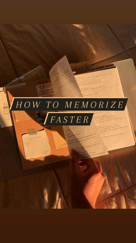 How to memorize faster