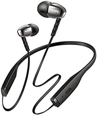 Amazon Com Philips Bluetooth Headphone Shb5950bk 27 Black Shb5950bk 27 Home Audio Theater Bluetooth In Ear Headphones Headphones Earbud Headphones