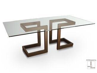 Rectangular Glass And Iron Dining Table Lisa Rectangular Table