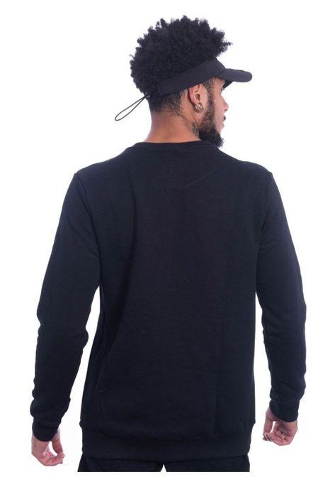 Blusa Jota K Moletom Careca Logo Preta