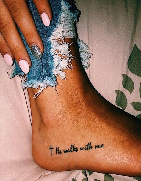 Cute Foot Tattoos, Thigh Tattoo Quotes, Small Foot Tattoos, Foot Tattoos For Women, Little Tattoos, Mini Tattoos, Body Art Tattoos, Cool Tattoos, Quote Tattoos