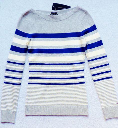 NWT Womens Tommy Hilfiger Pullover, Boatneck, Striped Sweater #TommyHilfiger #BoatNeck
