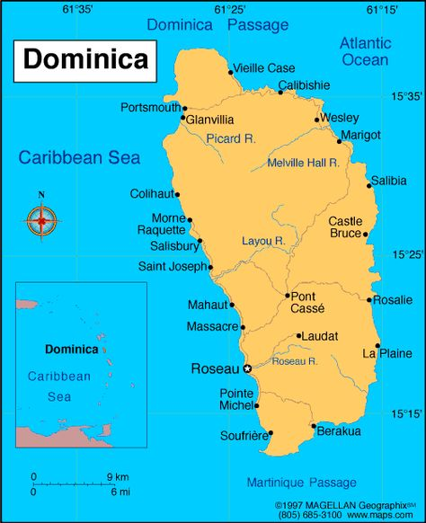 Dominica Wedding Destination Maps Location And Country Maps - Physical map of dominica