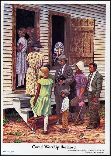 African American Religious Children Art Men Women