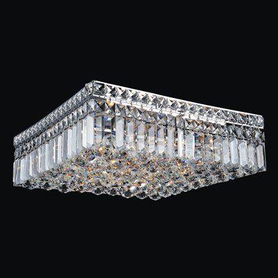 Crystal World Flush Mount Ceiling Light 8005c1 Square Flush Mount