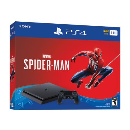Sony Playstation 4 Slim 1tb Spiderman Bundle Spider Man