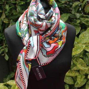Rita White Luxury Silk Scarf Silk Accessories White Silk Scarf Luxury Silk Scarves