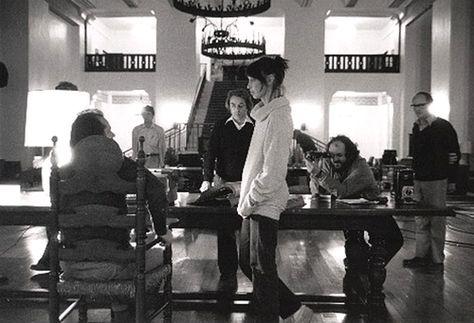 The Overlook Hotel — Director Stanley Kubrick lines up a shot of actors...