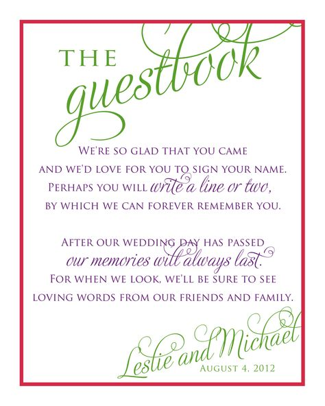 Bridal Shower Guest Book Template Wedding stationery for Leslie - guest book template