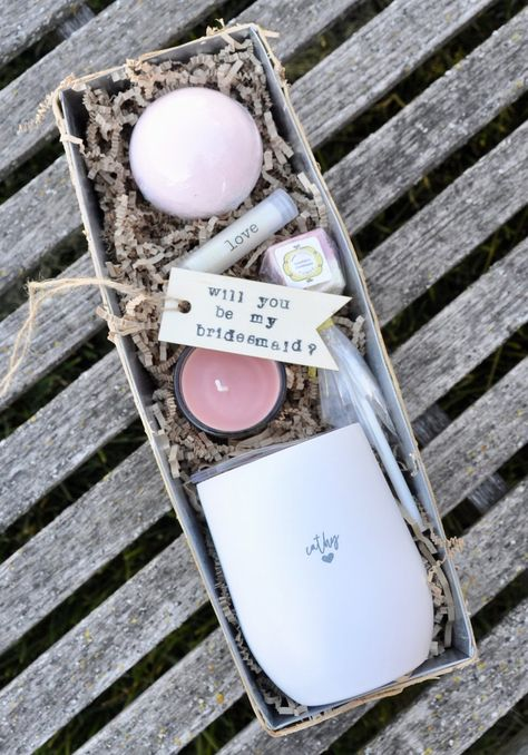 Personalized bridesmaid gift Pamper and sweet