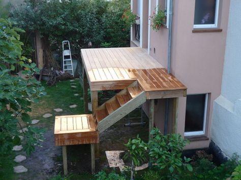 Monter une terrasse sur pilotis avec escalier à palier ...