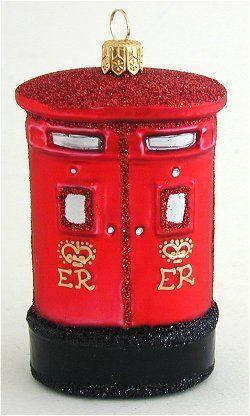 Amazon.com: British Royal Mail Post Box Polish Glass Christmas ...