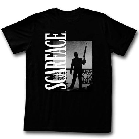Scarface Aviator Glasses Licensed Adult T Shirt Classic Movie