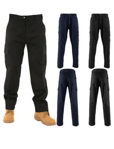 Mens Combat Cargo Work Trousers Size 30 to 54 With KNEE PAD POCKETS By BKS