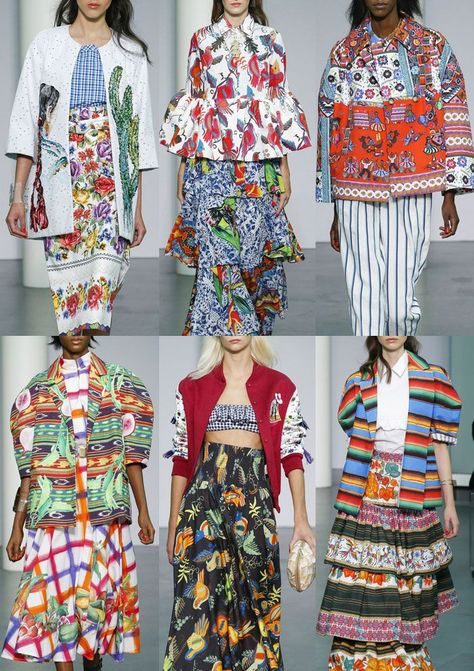 Patternbank bring you the final instalment of Milan Fashion Week where Milan continued to show a strong trend towards print and pattern from textiles aroun