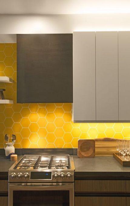 Kitchen Tile Yellow Backsplash Ideas 65 Ideas Kitchen Backsplash Designs Honeycomb Tiles Kitchen Modern Kitchen Backsplash