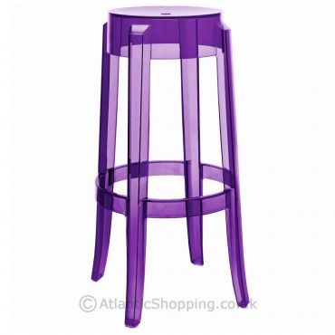 An Elegant Bar Stool In Transparent In The Louis Xv Style This