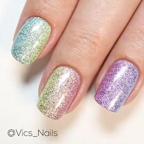COLORFUL GLITTER NAIL ART #nailart #glitter #nails