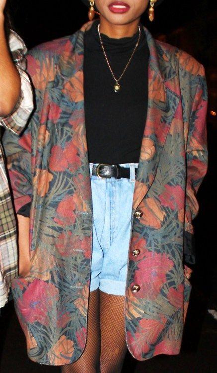 "80s fashion ""I love oversized Blazers """