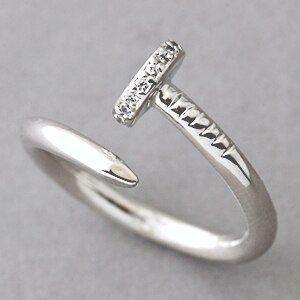 Cz White Gold Nail Ring Sterling Silver Silvernails Joyería Femenina Joyeria Anillos