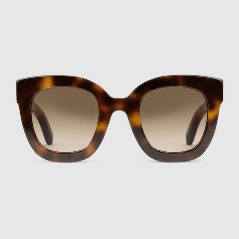 buona vendita sito autorizzato qualità del marchio Gucci Occhiali da sole rotondi in acetato con stella ...