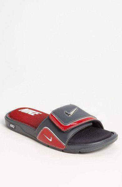 Nike Comfort Slide 2 Slide In Red For Men Dark Shadow Silver Red Nike Slippers Nike Shoes Nike Flip Flops