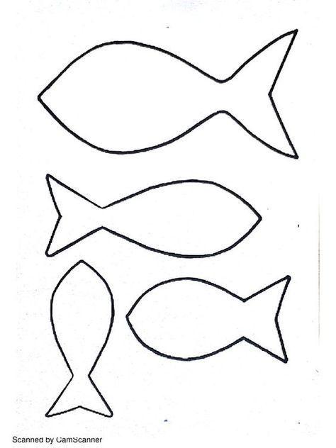 Fisch Vorlage Zum Ausdrucken Ausschneiden Basteln Mit Kindern Fische Basteln Fisch Vorlage Basteln