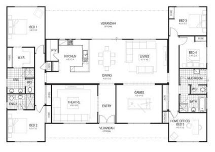 House Plans 4 Bedroom Farmhouse Open Floor 48 Ideas Bedroom Floor Plans Home Design Floor Plans 4 Bedroom House Plans