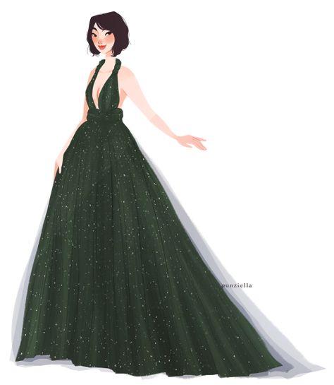 Mulan in a modern ballgown! // punziella