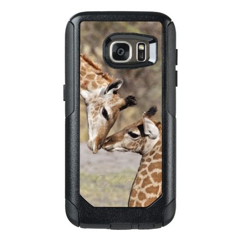 Two Young Giraffes OtterBox Samsung Galaxy S7 Case - Brighten your day with a giraffe. Such a beautiful creature! #giraffe #giraffes #gift #gifts #giftsforher #giftsforhim #animals #zoo