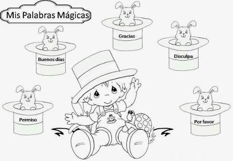 Resultado De Imagen Para Palabras Magicas Para Ninos Para Colorear Fictional Characters Character Education