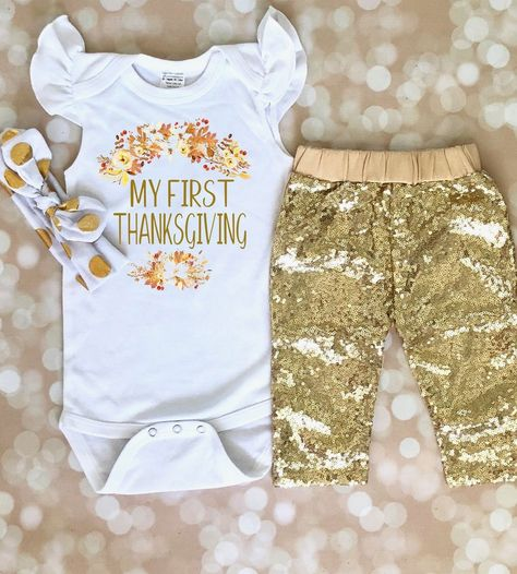 My First Thanksgiving Outfit Baby Clothes Pinterest