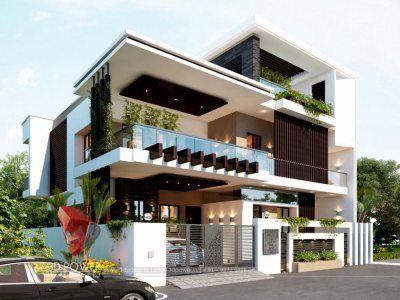 Bunglow Design 3d Architectural Rendering Services 3d Architectural Visualizatio Modern Exterior House Designs House Architecture Styles Duplex House Design