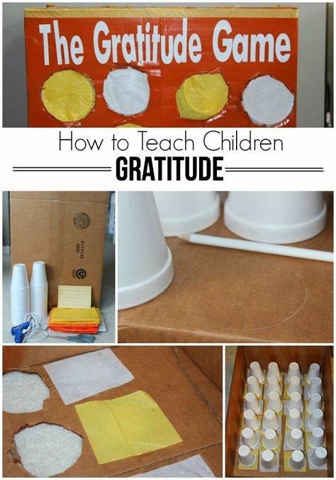 How to Teach Children Gratitude - awesome game idea for teaching gratitude plus a printable list of gratitude related activities