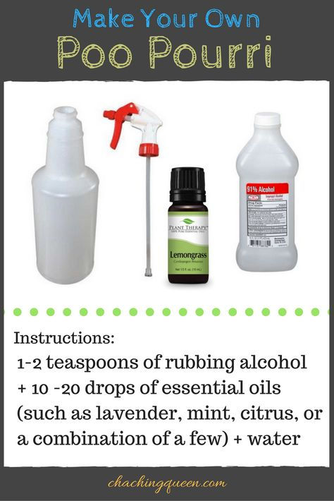 How To Make Your Own Poo Pourri Recipe - 18 Household Products You Can Make at Home DIY #poopourri #diyroomspray #diycleaning #diy #chachingqueen