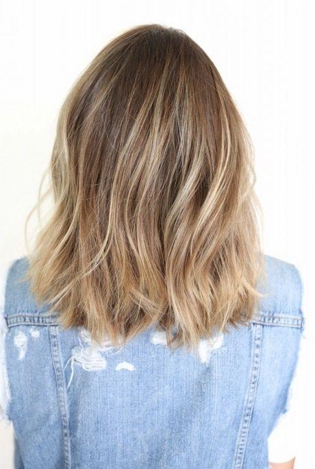 Schulterlange Haarrückansicht Hair Frisuren Schulterlang