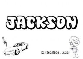 Jackson Boys Names Coloring Page Name Coloring Pages Names Of Jesus Jackson Name