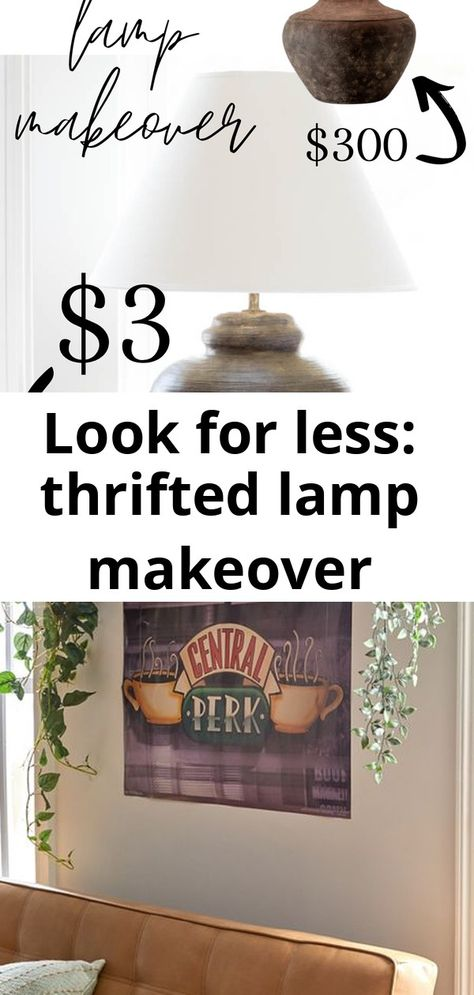 Look for less: thrifted lamp makeover