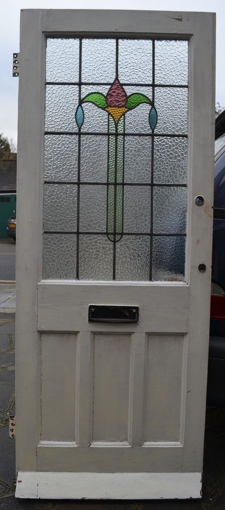 This Will Leave A Minimum Of Four Tiny Holes But Presumably You Will Be Repainting The Door Condition Glass Is Per Front Door Front Door Colors Stained Glass